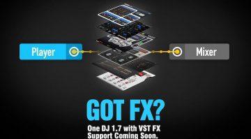 One DJ 1.7 Update unterstützt VST-FX