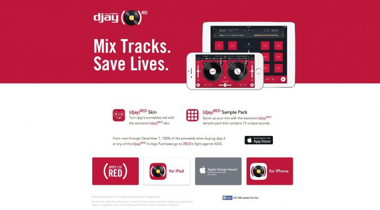 RED Edition von Algoriddims Djay für iPad und iPhone