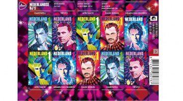 Hollands Top-DJs sind jetzt als Briefmarken erhältlich.
