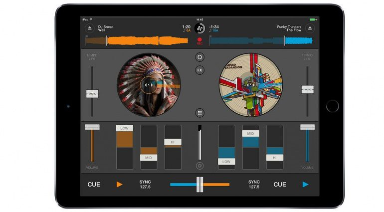 Mixvibes Cross DJ iOS 2.0 Screenshot Main