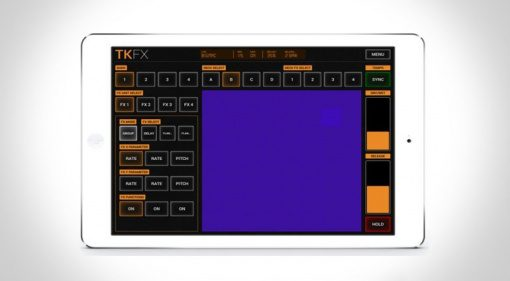 Imaginando TKFX: Traktor Effekt-Bedienung über WLAN mit virtuellen Schaltflächen und XY-Pad