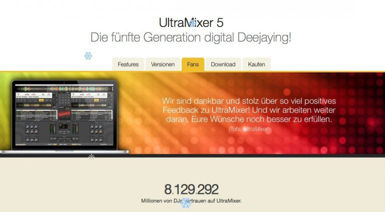 Digital Audio Solutions Ultramixer Version 5 - Millionen User können nicht irren.