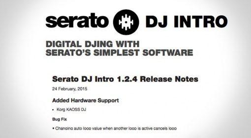 Update: Serato DJ Intro 1.2.4