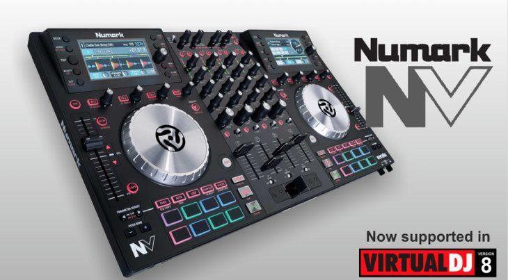 Numark NV jetzt mit Virtual DJ 8 Support