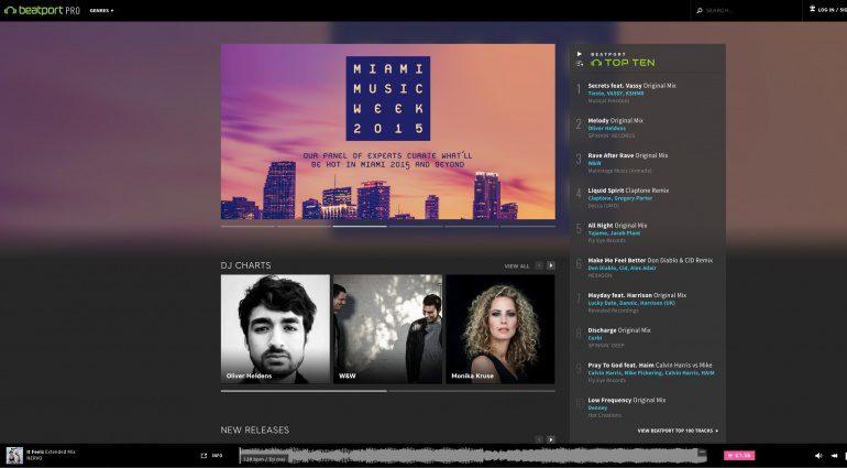 Beatport Pro Landing Page