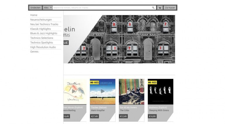 Technics Tracks Online Music Store