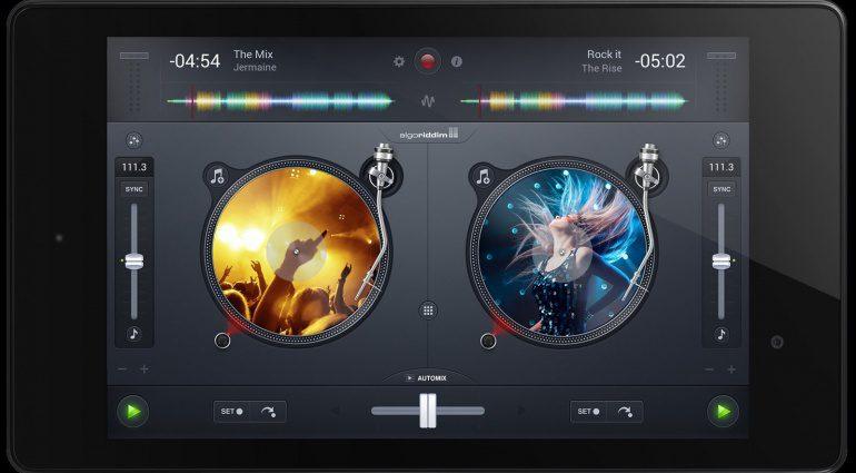 Algoriddim Djay 2 für Android Turntable View
