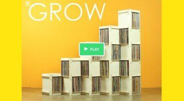 Grow - Vinyl Regal von Godar Furniture