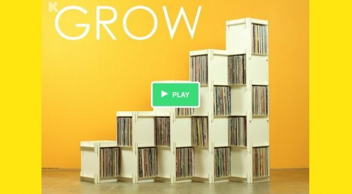 Grow - Vinyl Regal von Godar Furniture