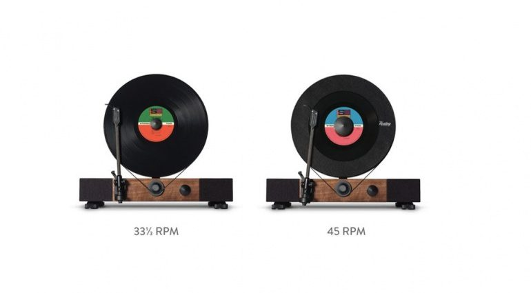Gramovox Floating Record Vertical Turtable Frontal