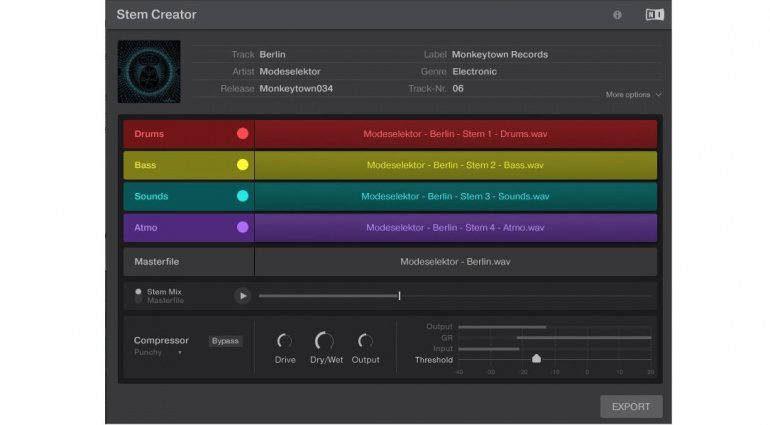 Native Instruments Stem Creator Tool
