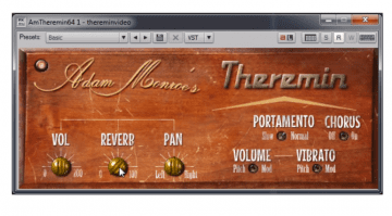 Adam Monroe Theremin Plugin AU VST OSX Windows GUI