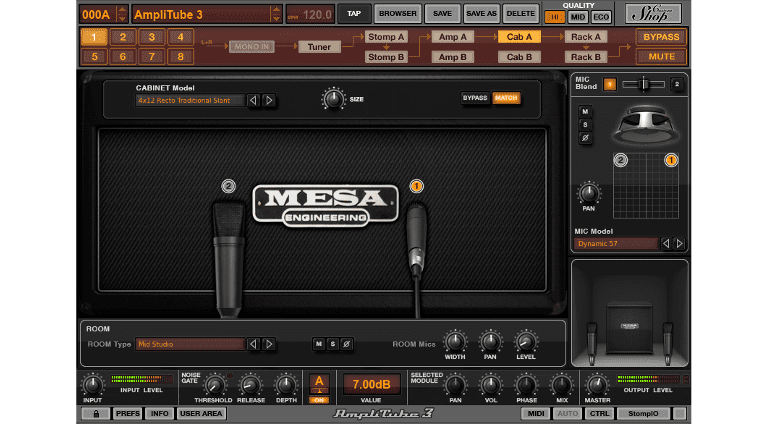 IK Multimedia AmpliTube Mesa/Boogie Box Mikrofon