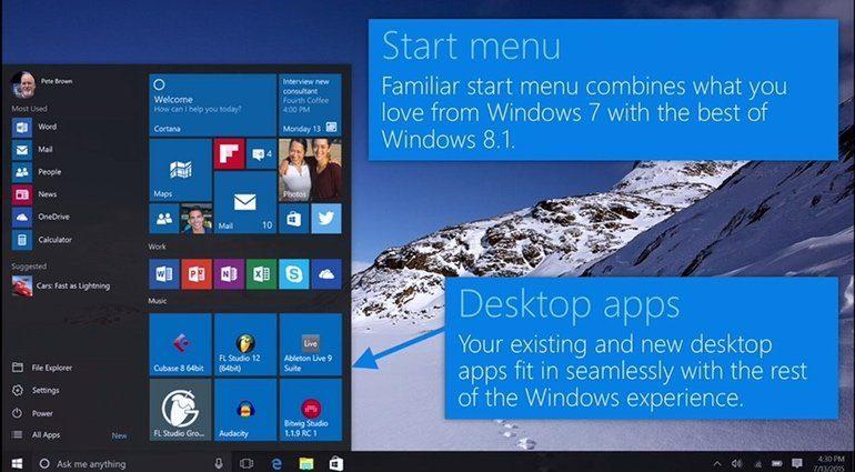Windows 10 GUI Cortana Offline Mode