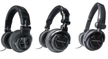Denon DJs neue HP-Kopfhörer von links nach rechts: HP1100, HP800, HP600
