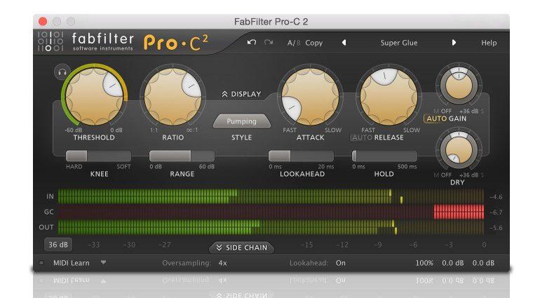 FabFilter Pro-C 2 Kompressor Comp Plugin Compact