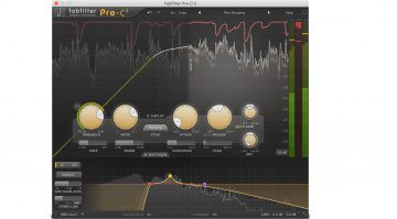 FabFilter Pro-C 2 Kompressor Comp Plugin Main View Sidechain EQ Gainreduction GUI