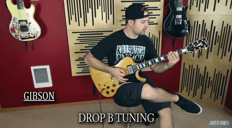 Jared Dines Youtube Metal Hardcore Djent Shootout Fender Gibson Gitarre Firebird