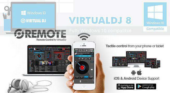 Windows 10 und iTunes 12 Kompatibilität, iOS und Android Remote Apps, erweiterten Controller-Support... Virtual DJ 8 dreht auf.