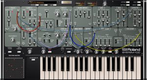 Roland System 100 als Plug-Out für System 1 / 1m und als Plug-In