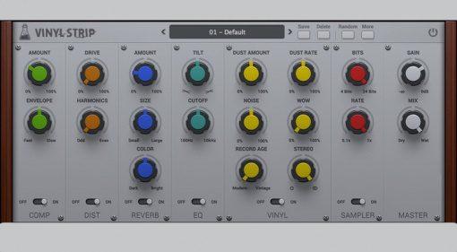 AudioThing Vinyl Strip Effekt Plugin GUI