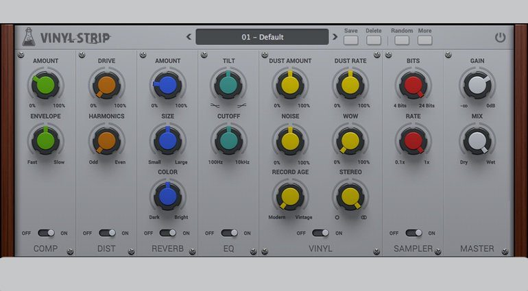 AudioThing Vinyl Strip Effekt Plugin GUI