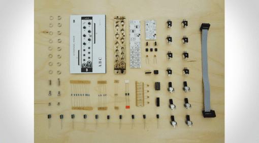 Foto der Bauteile des ABC-Eurorack Moduls von Bastl Instruments