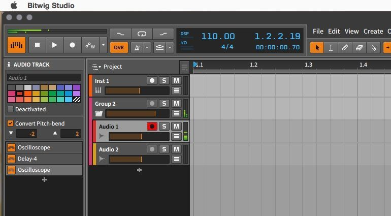 Bitwig Studio 1.2 Group Track Gruppe