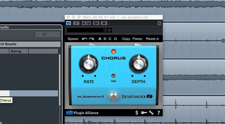 Brainworx bx_bluechorus Plugin GUI