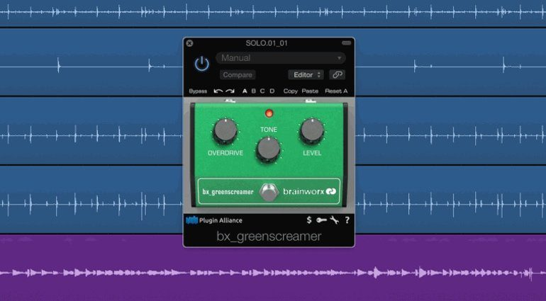 Brainworx bx_greenscreamer Plugin GUI