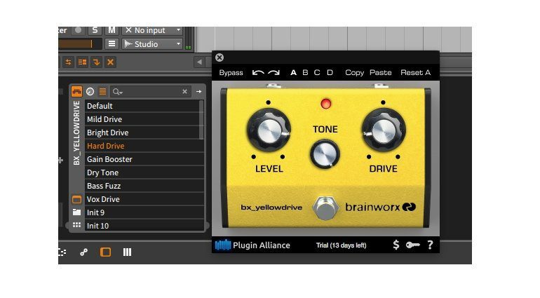 Brainworx bx_yellowdrive Plugin GUI