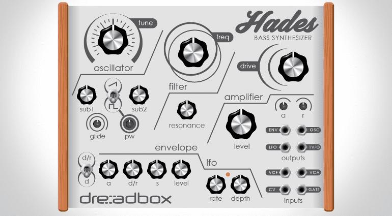 Produktabbildung des kompakten Bass-Synthesizers Hades des Herstellers dreadbox