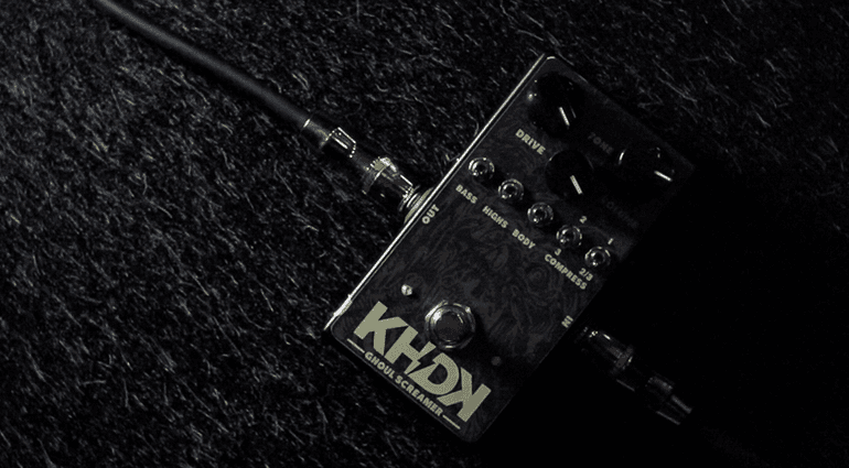 KHDK Electronics Ghould Screamer Overdrive Pedal Front