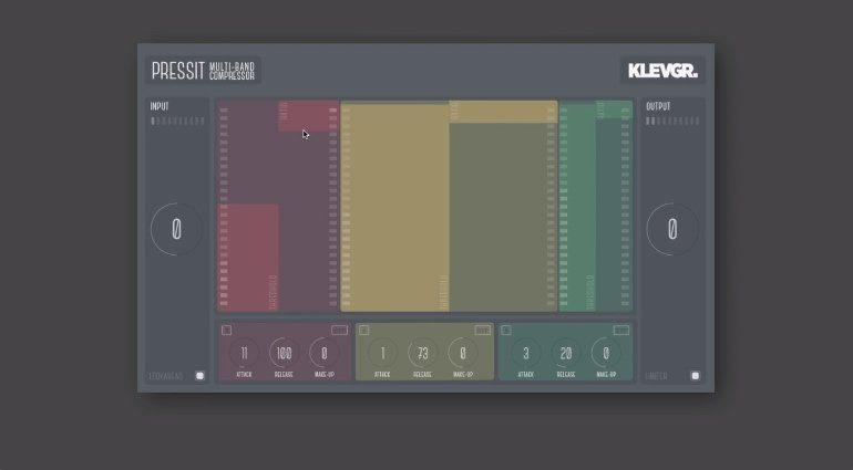 Klevgränd Klevgraend PressIt Multi Band Kompressor Compressor VST AU iPad GUI