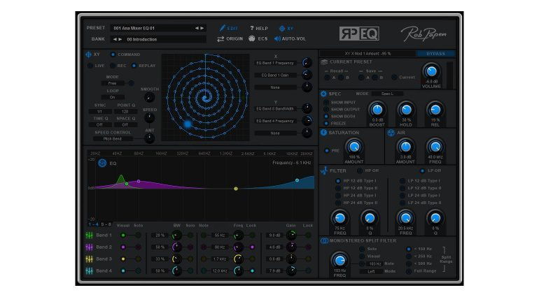Rob Papen RP-EQ GUI XY Pad Front 2