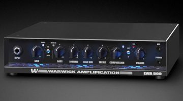Warwick LWA 500 Black Topteil Bass Front