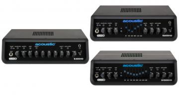 Acoustic B300HD B600HD B1000HD Topteil Bass Amp Head