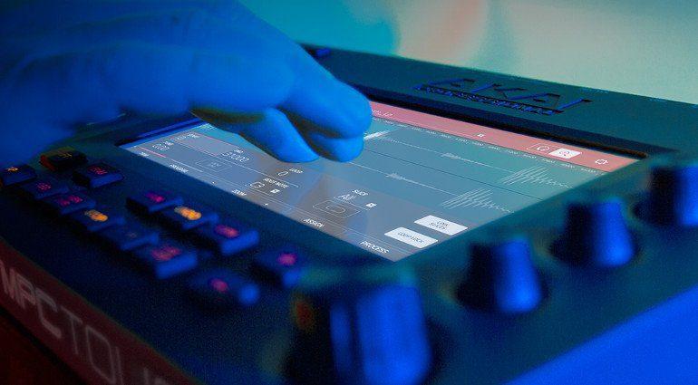 Akai Pro MPC Touch In Benutzung