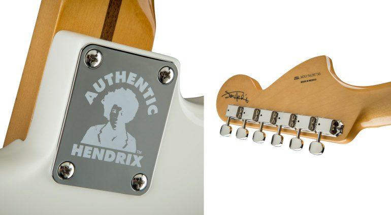 Fender Artist Signature Serie Jimi Hendrix Stratocaster Strat Olympic White Headstock Backplate