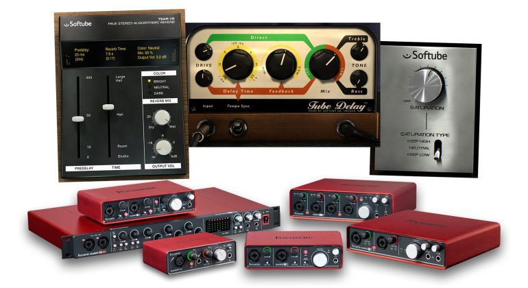 Focusrite Scarlett Clarett Saffire Suftube Saturation Knob Tube Delay TSAR-1R Reverb Time and Ton PLugin Bundle