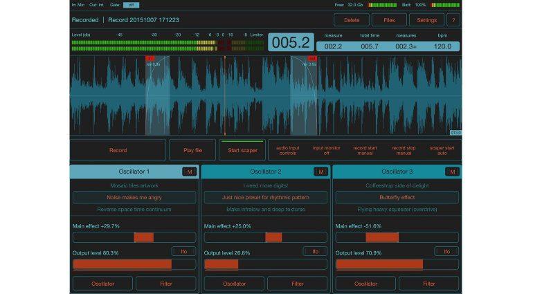 Motion Soundscape FildScaper GUI 1