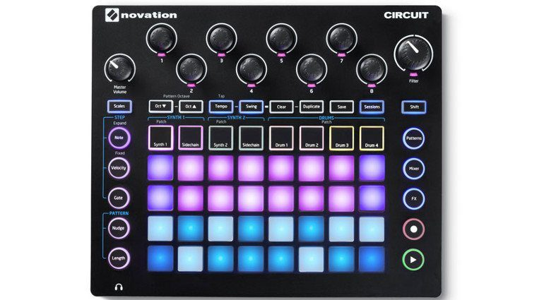 Novation Circiut Top View