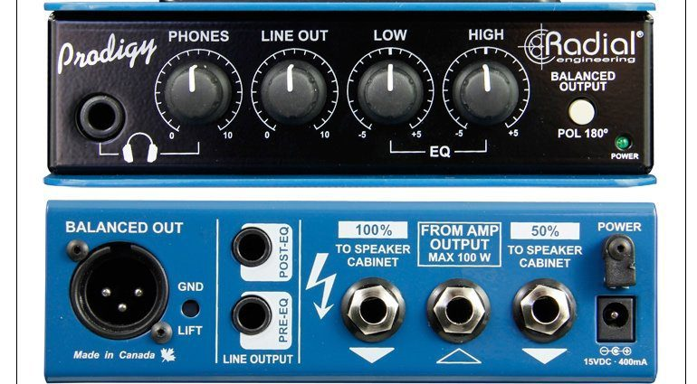 Radial Engineering Headload Prodigy Attenuator Front Back