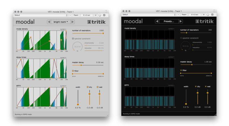 Tritik Moodal Plugin FX Resonanz Room GUI