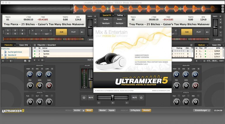 Ultramixer 5.0.3 -DJ Software aus Dresden