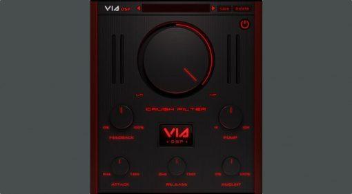 ViaDSP Crush Filter Plug-in GUI
