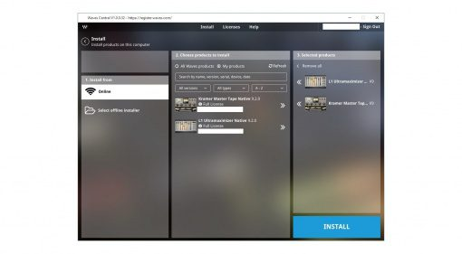 Waves Central Plug-in Manager GUI