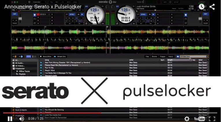 Serato DJ integriert Pulselocker Streaming