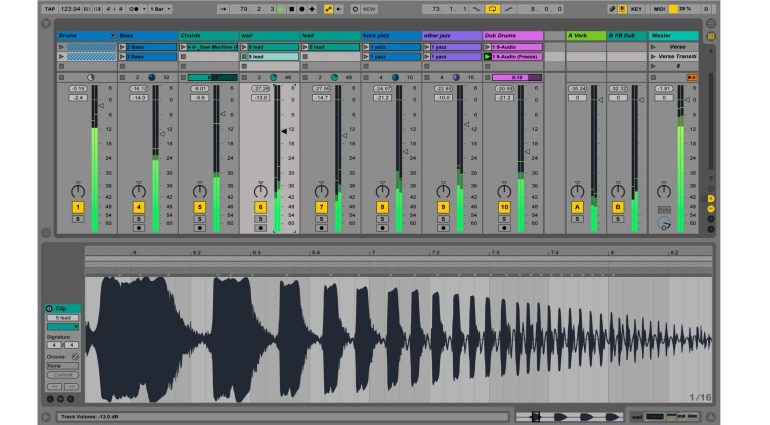 Ableton Live 9.5 Update Level Meter Mixer Peak RMS