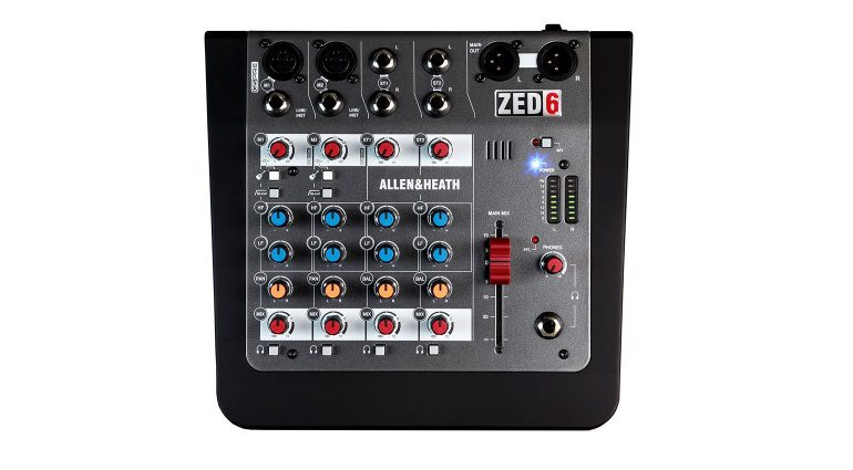 Allen & Heath ZED-6 Mixer Top View